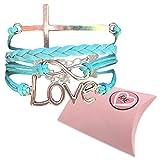 BAE Icons Infinity LOVE & CROSS Jesus bracelet, Christian religion...