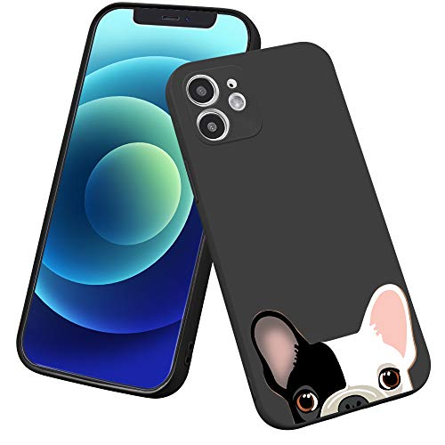 LuGeKe French Bulldog Phone Case for iPhone XR, Puppy Dog Patterned Case Cover,Soft TPU Cover Flexible Ultra Slim Anti-Stratch Bumper Protective Girls Phonecase(Pups)