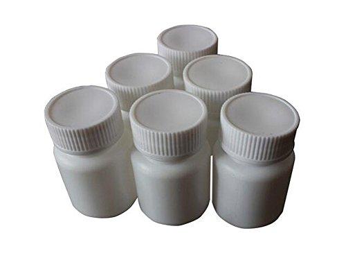 Juego de 12 botellas de plástico blancas de 50 ml para pastillas cápsulas, recipientes de almacenamiento botellas para medicinas pastillas tabletas recipientes