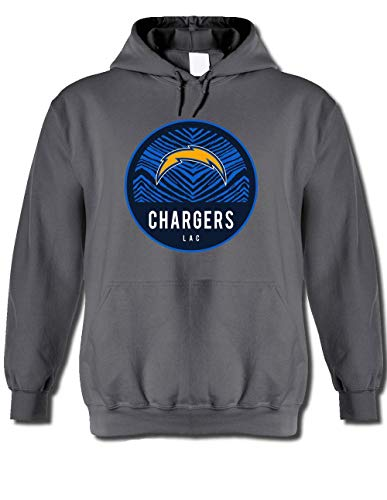 NFL San Diego Chargers Men's Team Graphic Gray Hoodie, Gray, XX-Large