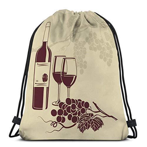 Lsjuee mochila con cordón, bolsa de gimnasio, para niñas o hombres, compras,...