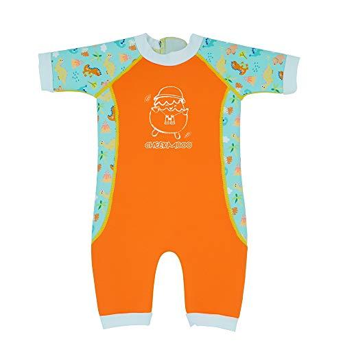 Warmiebabes Baby & Kinder Einteiler Badeanzug für Jungen und Mädchen, 6-48 Monate (18-30 Monate, Kürbisorange/Dino)
