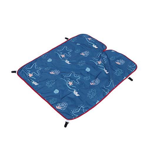 SALUTUYA Mantas para Asientos de Coche Amigables con la Piel para Las Estaciones(Tropical Seabed, 85 * 64cm)