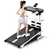 Lanyun Run Treadmill, Treadmill Folding Shock Running Supine T-Wisting Draw Rope 4-in-1 Mechanical Treadmills Home Gym Workout Fitness Electric Running Machine LCD Display Motorized Running