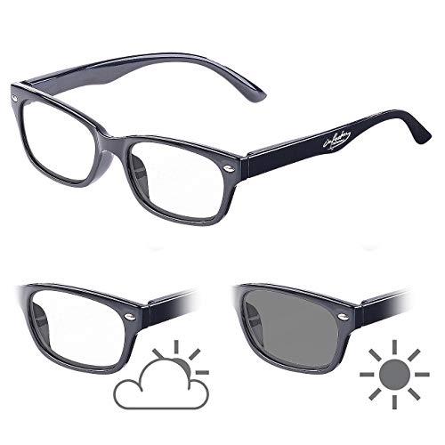 infactory Lesesonnenbrille: Selbsttönende Lesebrille mit UV-Schutz 400, 2,0 Dioptrien (Lesebrille mit Sonnenschutz)