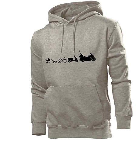Generisch Motorrad Evolution Goldwing Männer Hoodie Sweatshirt Grau 3XL - shirt84.de