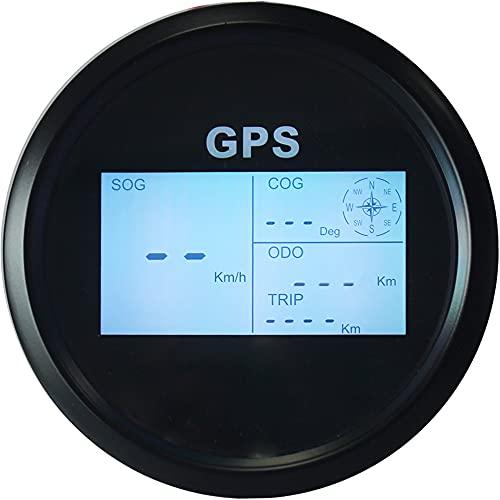 Eling GPS Tachometer Digitale Geschwindigkeitsanzeige Kilometerzähler Kilometerzähler Für Auto Marine mit GPS Antenne 7 Hintergrundbeleuchtung 85mm