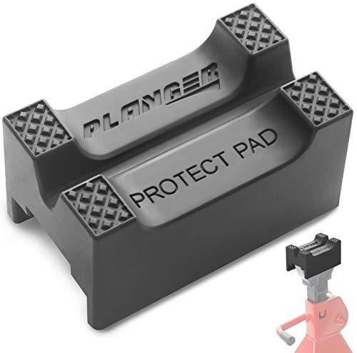 PLANGER® - Protect Pad – Bloque de Goma ranurado Universal Antideslizante para Jack Pad - Protector de Coche Anti daños en el Bastidor de Coche - Goma Altamente Resistente