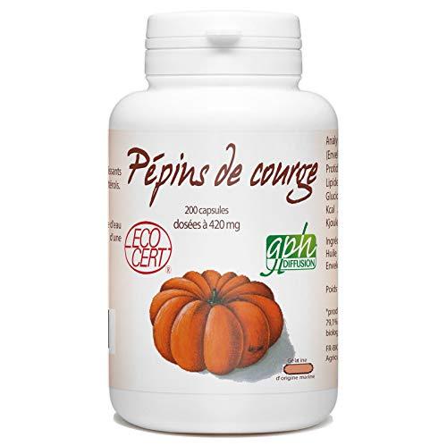 Huile de Pépins de Courge Bio - 420 mg - 200 capsules