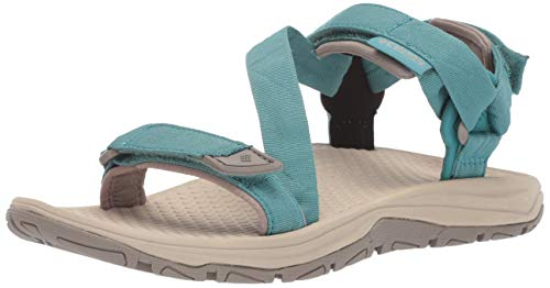 Columbia Big Water II, Sandalias para Mujer, Azul (Teal, Ancient Fossil), 39 EU