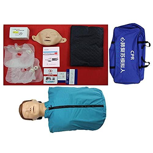 XGYUII Maniquí de entrenamiento de RCP de busto Maniquí de entrenamiento profesional de enfermería modelo médico de primeros auxilios modelo humano
