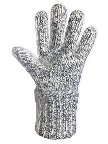 Dachstein Woolwear 100% Austrian Boiled Wool EXTRA WARM 3 PLY Arctic Alpine Gloves (Mele Grey, 8.0)