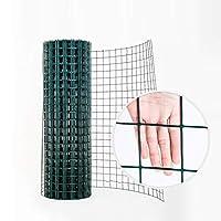 金網フェンス 緑のプラスチック製の庭のフェンス、30 M PVCコーティングされた溶接ネットメッシュ、動物のフェンスと野菜の保護用鋼の金属製ハードウェアクロス (Color : 2.8mm thickness)