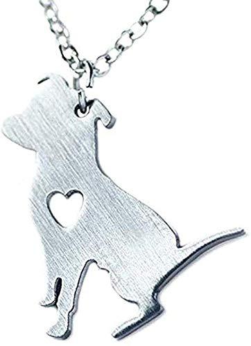 LBBYLFFF Collar de Moda de Acero Inoxidable Collar de Pitbull Cadenas de Perro Pitbull Cadena Simple Colgante Animal Mascotas Cachorro