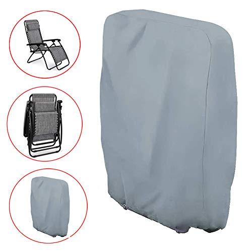 Funda para Silla Gravedad Cero - Funda para sillas reclinables terraza con Material Duradero 210D, Resistente al Agua Funda para Tumbona Gravedad Cero(71cm x 34cm x 110cm)