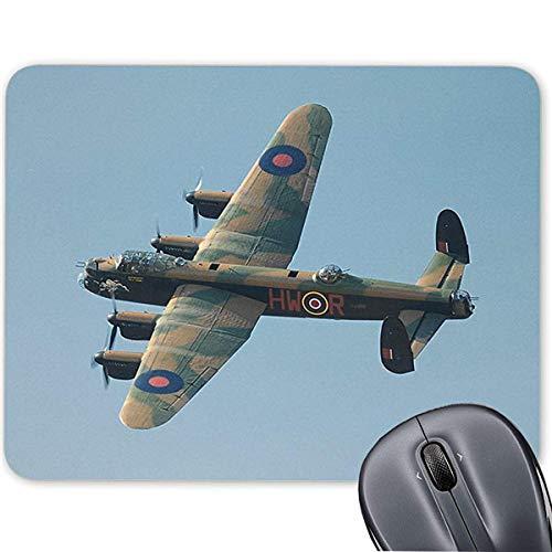 Avro Lancaster Bomber Mauspad mit Anti-Rutsch-Gummibasis für Computer Notebook Mac 19,1 x 23,4 cm