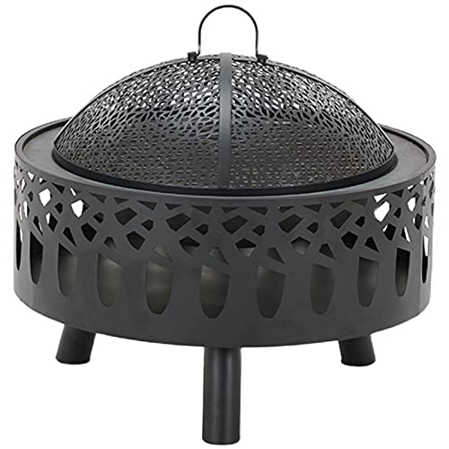 Pozo de fuego portátil, Estufa de calefacción al aire libre de invierno Parrilla sin humo Chimenea interior para viajes Camping y leña en el patio trasero