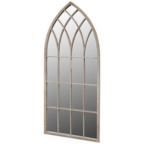 Anself Spiegelfenster 115 x 50 cm ür den Innen- und Außenbereich Weiß