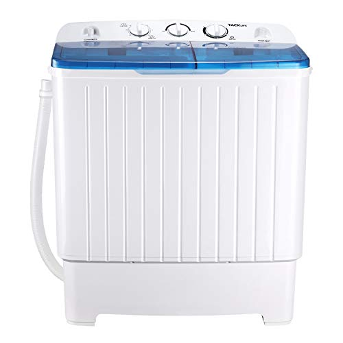 Comfee Portable Washing Machine, 0.9 cu.ft Compact Washer With LED Display, 5 Wash Cycles, 2 Built-in Rollers, Space…