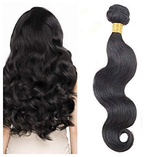 [15% Rabatt] Haartressen Echthaar Naturschwarz #1B Gewellt Body Wave 22 inch 100% Human Hair Weft zum Einnähen Brasilianische Haar