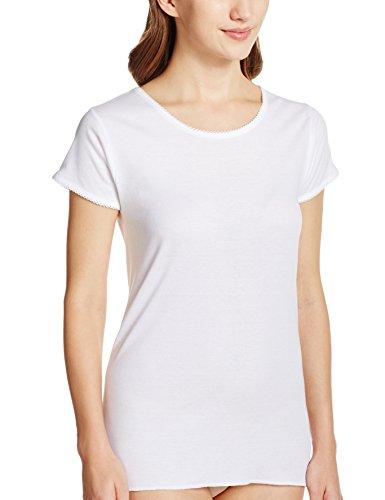 [グンゼ] インナーシャツ 快適工房 婦人丸首三分袖スリーマー 綿100% 日本製 KH5051 レディース ホワイト 日本M (日本サイズM相当)
