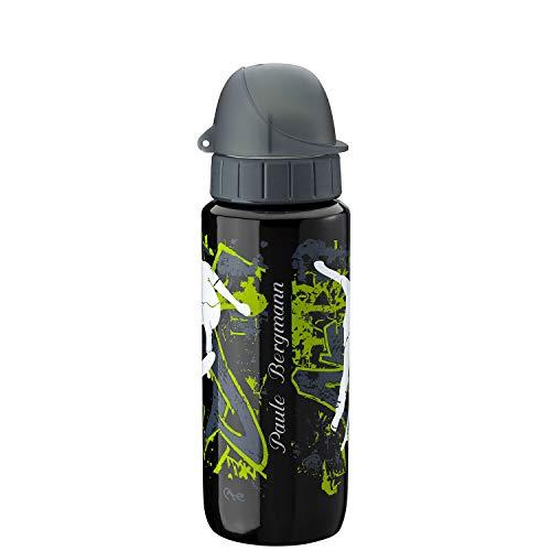 Emsa Trinkflasche Drink2Go Light Steel 600 ml Teens Skateboard mit Laser-Gravur Edelstahl auslaufsicher