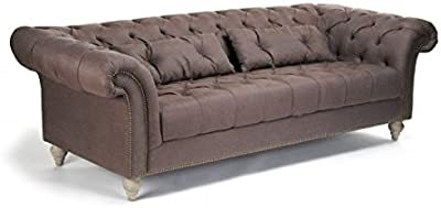 Amazon.com: Moes Home Collection Canal Sofa, Blue: Kitchen ...