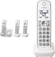 $107 » Panasonic Expandable Cordless Phone System with Answering Machine and Call Block - 4 Cordless Handsets - TGD533W (3 Handse...