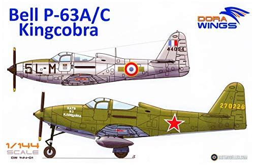 ドラウィングス 1/144 フランス空軍・ソビエト空軍 ベル P-63A/C キングコブラ (2機入り) プラモデル DWS14401