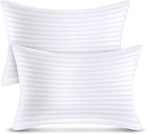 Utopia Bedding Bed Pillows (2-Pack) - Premium Plush Gel Pillows for Sleeping - Queen Size 20 x 28 Inches - Cotton Pillows for Side, Stomach and Back Sleeper