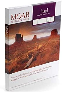"""Moab Lasal Photo Matte, Double Sided, Bright White Archival Scored Inkjet Paper Cards, 235gsm, 7x10"""", 50 Cards"""