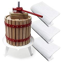 Presse à fruits Wiltec 30l avec 3 serviettes de presse assorties