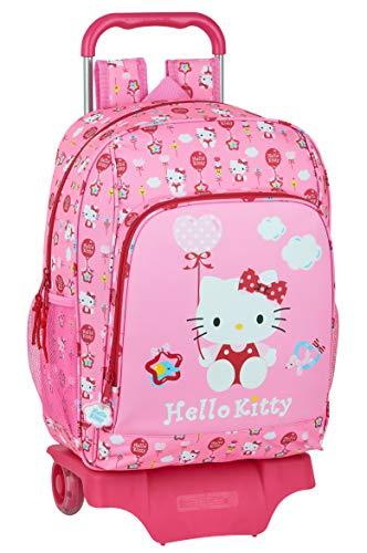 safta Mochila Infantil con Carro 905 de Hello Kitty Balloon, 330x420x140mm