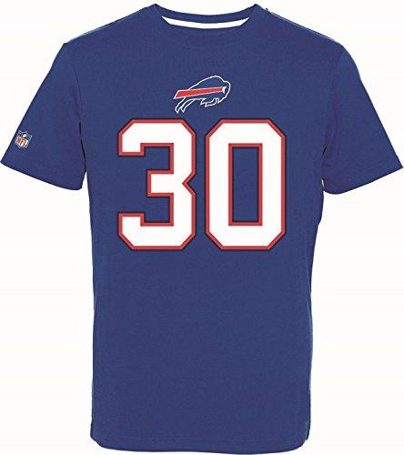 Majestic Athletic NFL Football T-Shirt Buffalo Bills Bacarri Rambo #30 blau Trikot Jersey (L)