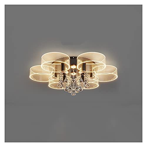Plafón de Techo Luces de sala de estar luces nuevas luces modernas de dormitorio luces de techo simple luces de atmósfera Luces de techo de cristal de lujo Varios estilos de luces redondas Adecuado pa