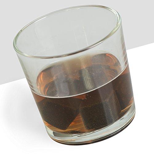 Grinscard Whiskysteine 9 STK. Wiederverwendbar - Grau Speckstein 2 x 2 x 2 cm - Kühlsteine für Party Hausbar Reisen - 3