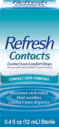 Refresh Contacts, Contact Lens Comfort Drops, 0.4 Fl Oz (12mL) Sterile