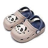 Zuecos Niña Chanclas de Playa Unisex Niños Sandalias Zapatillas de Estar Zapatos de Agua Zapatos de Piscina 26.5-27EU=Fabricante : 27 Gris
