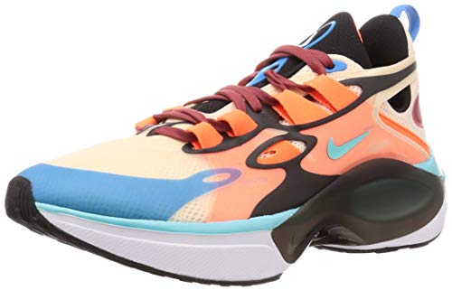 Nike Signal D/MS/X Sneakers Celeste Arancio Nero AT5303-800 (42.5 - Arancio)