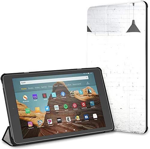 Estuche para habitación de hormigón con Tres lámparas de Techo Fire HD 10 Tablet (9.a / 7.a generación, versión 2019/2017) Estuche Fire HD 10 Divertido Estuche de Kindle Auto Wake/Sleep para Tablet