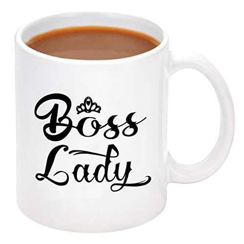 Boss Lady Coffee Mug Boss Lady Gift for Women Men Coffee Mug Cups for Boss Best Boss Day Gifts Presents for Boss Female Women 11 Oz White