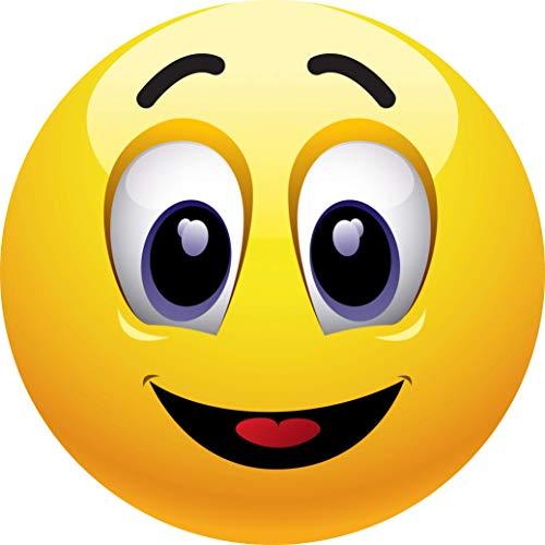 Smiley Lustiges Mauspad / Mousepad (Motiv 131) Qualitäts-Mauspad mit Smile, rund Ø 22 cm aus extrem reißfestem Spezialkautschuk mit stark haftender Unterseite für optimalen Halt von Edition Colibri