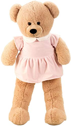 Lifestyle & More Riesen Teddybär Kuschelbär Mädchen XXL 100 cm groß Plüschbär Kuscheltier samtig weich - zum liebhaben