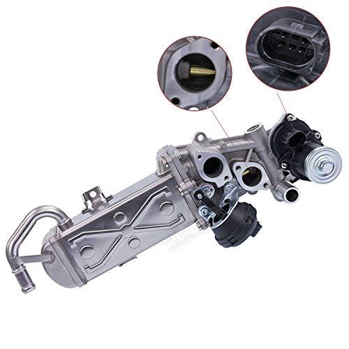 MOSTPLUS 03L131512CF 0280751016 11725505 03L131512BB AGR Ventil Kühler Ersatz Abgasrückführung kompatibel mit A3 8P1 Q3 TT Altea Leon Octivia 1.6 2.0 TDI