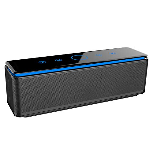 JIE. Altavoz Bluetooth, Altavoces Bluetooth portátiles 26W, Tiempo de reproducción de 10 Horas, Rango de Bluetooth de 10 Metros, bajo Mejorado y micrófono Incorporado