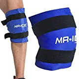 Large Knee Gel Pack for Injuries, Reusable Cold Gel Pack Knee Wrap Hot Cold Compress for Post-Surgery, Sports Injury, Muscle Aches, Instant Pain Relief for Swelling, Bruises & Sprains 21.7 * 9.8 Inch