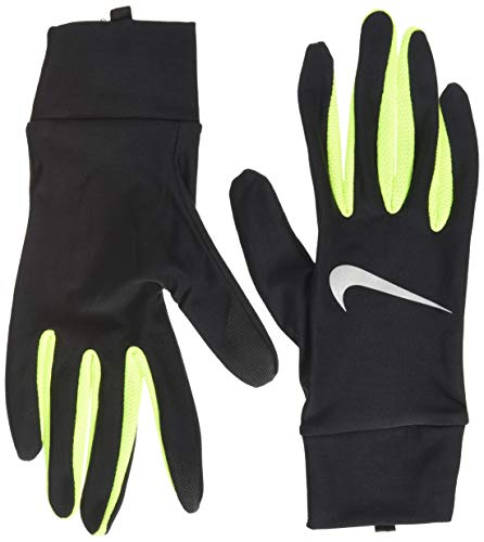 Nike Herren Lightweight Tech Running Gloves Handschuhe, Black/Volt/Silver, L