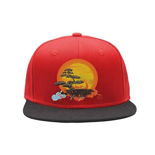 Zcfhike Bonsai Tree Gorra de béisbol para Mujer Liso Ajustable Denim Jean Hat Multicolor86