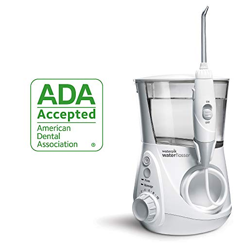 Waterpik Water Flosser Electric Dental Countertop Professional Oral Irrigator For Teeth, Aquarius, WP-660 White