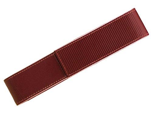 LAMY A314 elegantes Leder-Etui aus hochwertigem Nappaleder in der Farbe Rot mit charakteristischer Prägung – für 1 Schreibgerät geeignet